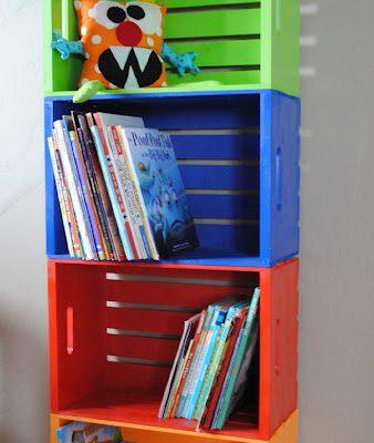 How to make a bookshelf for kids room or classroom