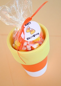 Easy Candy Corn favors or decor