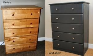 Refinish an old dresser