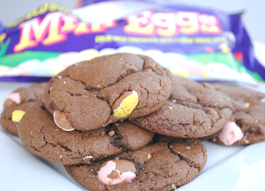 Cadbury Mini Egg Cookie Recipe {to die for!} from CrazyLittleProjects.com