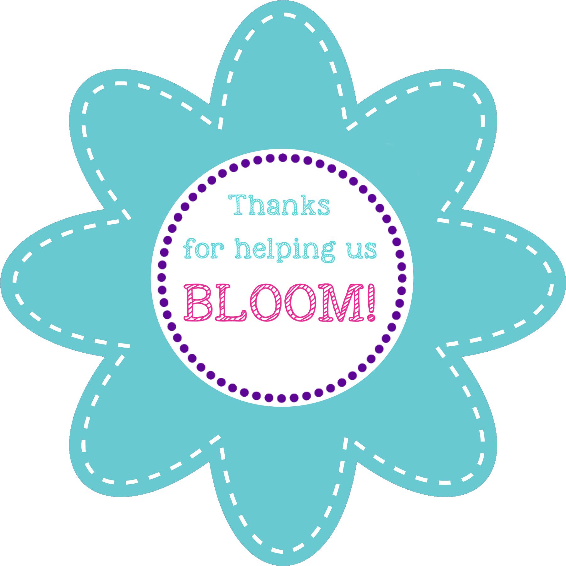 Teacher Appreciation Flower Gift Ideas-Printable Tag