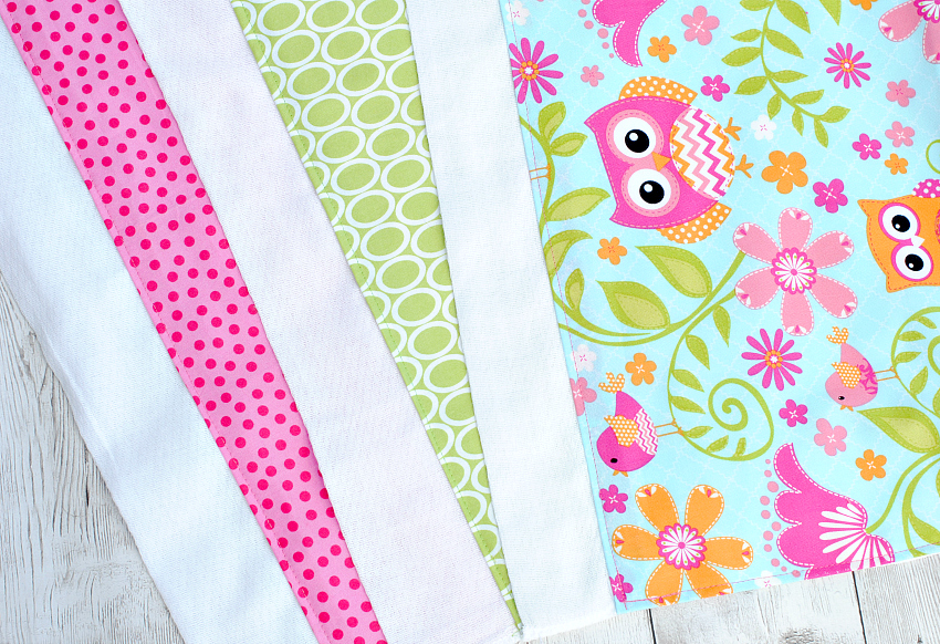 Easy Baby Burp Cloth Tutorial
