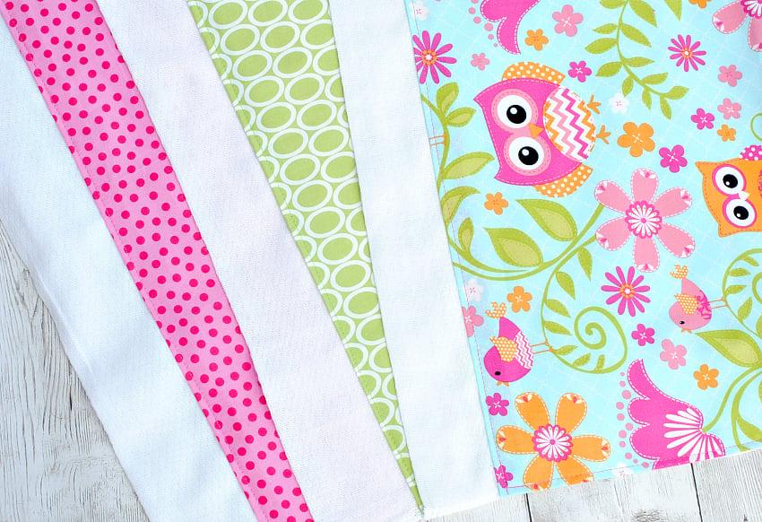 Easy Baby Burp Cloth Tutorial