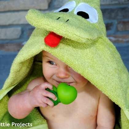 Frog Hooded Towel for Baby and Toddlers