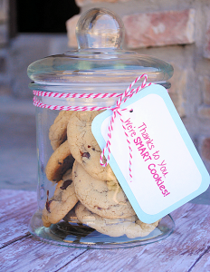 Smart Cookies Teacher Appreciation Gift Idea by CrazyLittleProjects.com