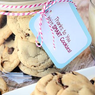 Teacher Appreciation Gift Ideas-Smart Cookies