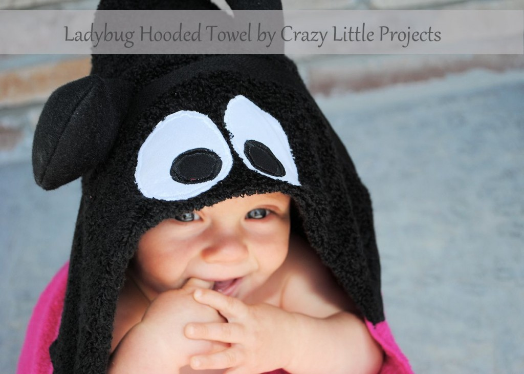 Ladybug hooded towel tutorial from Crazy Little Projects