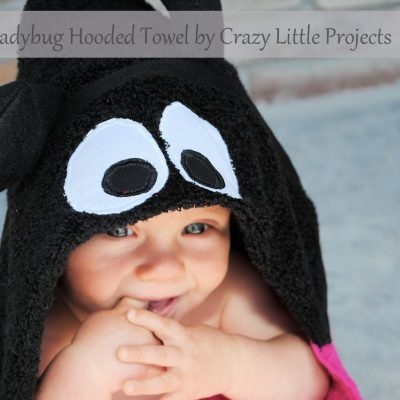 Ladybug hooded towel tutorial