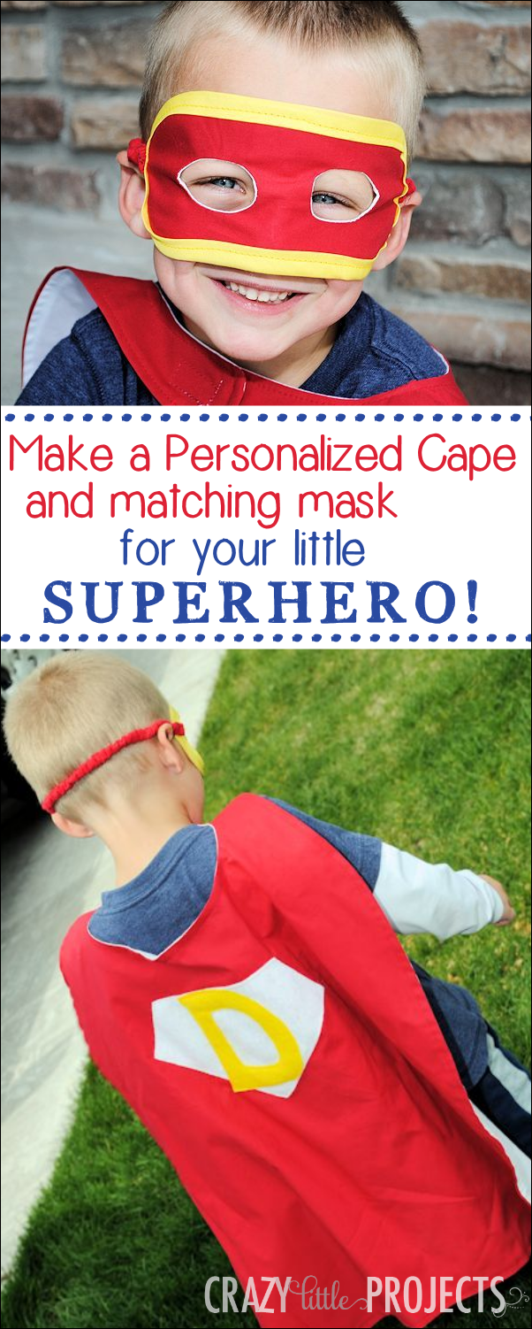Personalized Superhero Cape and Mask Tutorial by Crazy Little Projects