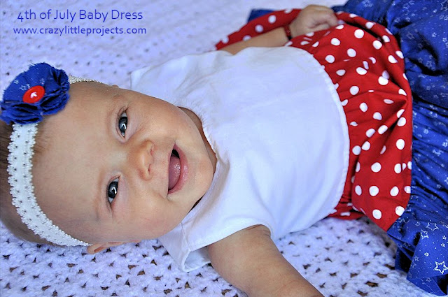4th of July Baby Dress Pattern and Tutorial from Crazy Little Projects