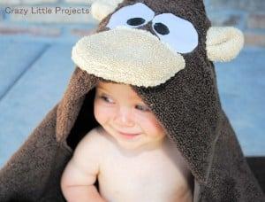 Monkey Hooded Towel Tutorial