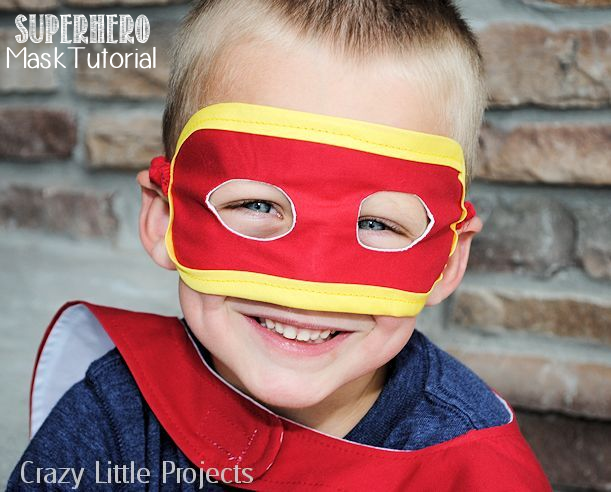 Superhero Mask Tutorial by Crazy Little Projects