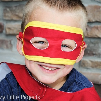 Superhero Mask Template and Tutorial