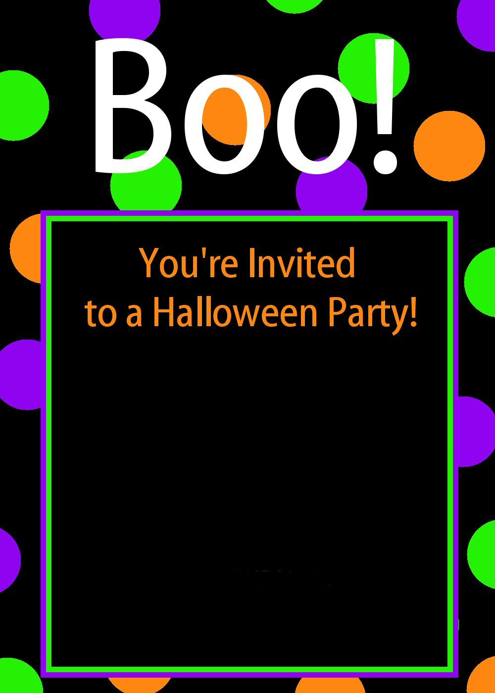 Free printable halloween invitations crazy little projects for How to have a great halloween party
