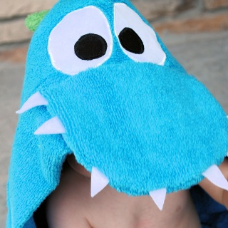 Dragon Hooded Towel Tutorial
