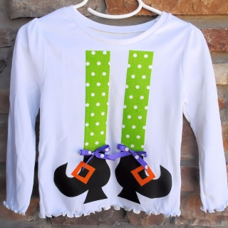 Girl's Witch Legs Shirt