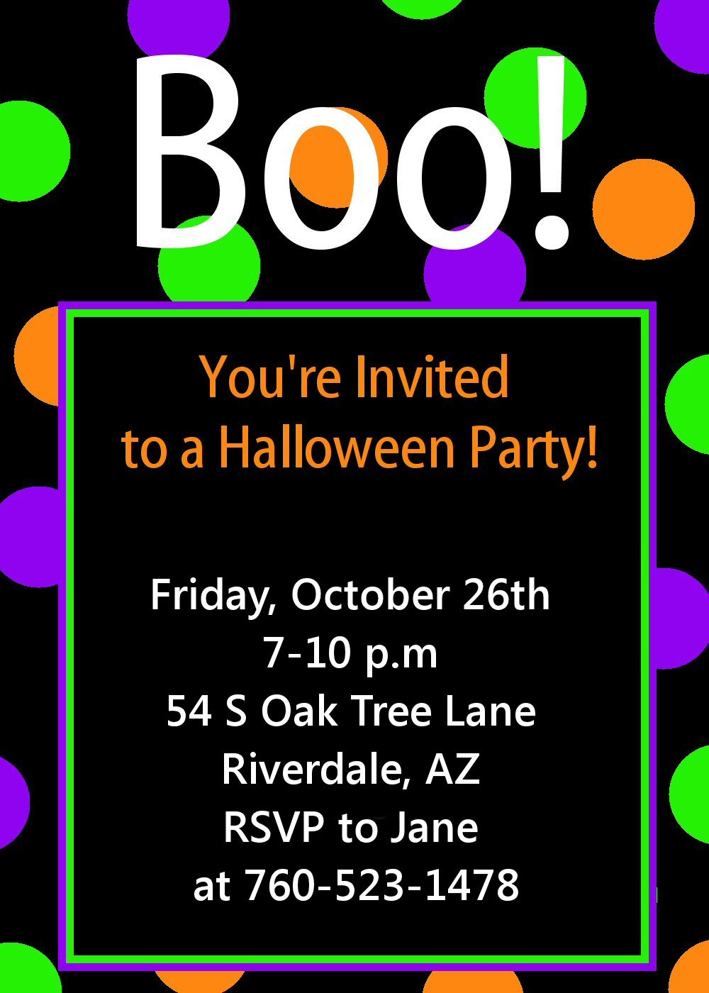 Halloween Invitations Template. Bear River Photo Greetings ...