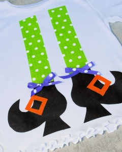 Witch Legs Girls Shirt DIY