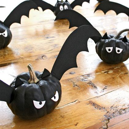 Make bat pumpkins