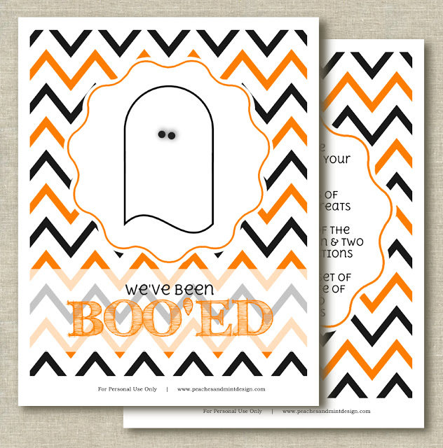 You've Been Boo'ed Free Printable