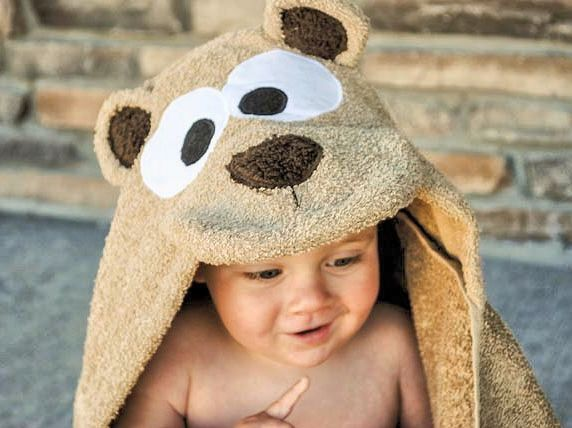 How to make a teddy bear hooded towel