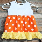 Candy Corn Baby Dress
