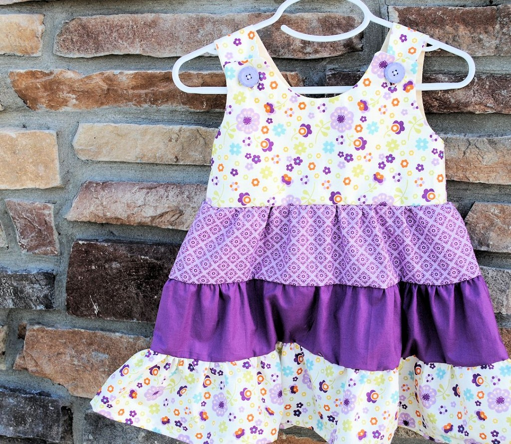 Girls Tiered Ruffle Dress | Free Girls Dress Patterns You Can Use For Sewing | little girl dress patterns