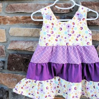 Girl's Tiered Ruffle Dress