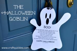 Halloween Goblin Doorbell Ditching