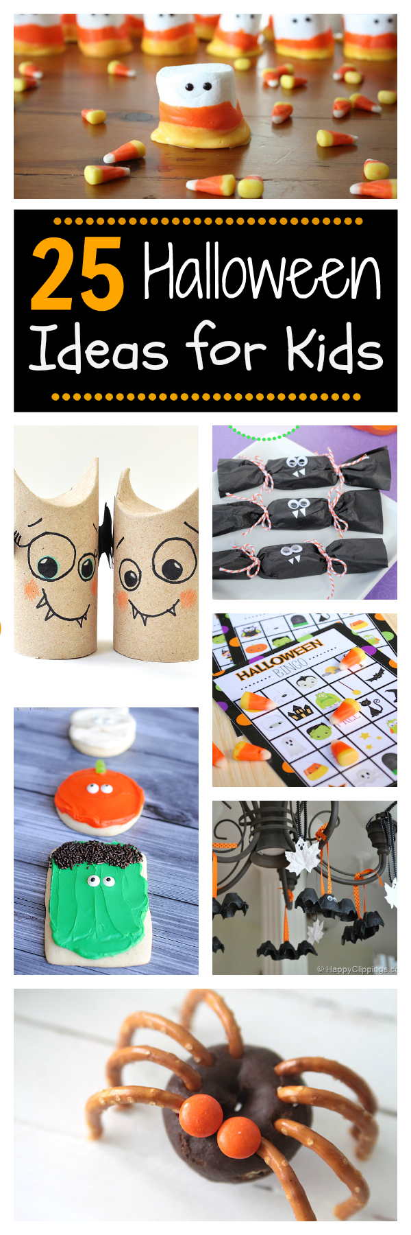 25 Fun Ideas for Kids this Halloween: Halloween Crafts for kids that are perfect for any Halloween party or just as a fun activity for Halloween! #halloween #holidays #crafts #kids