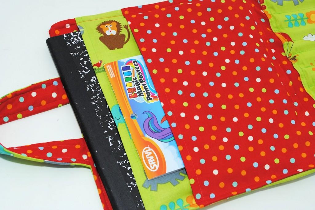 Make a coloring book holder