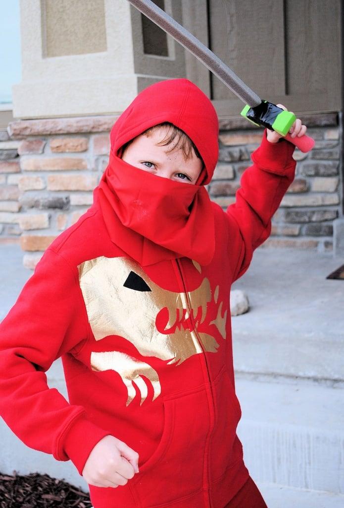 Super Easy Ninja Costume Tutorial No Sew From Crazy