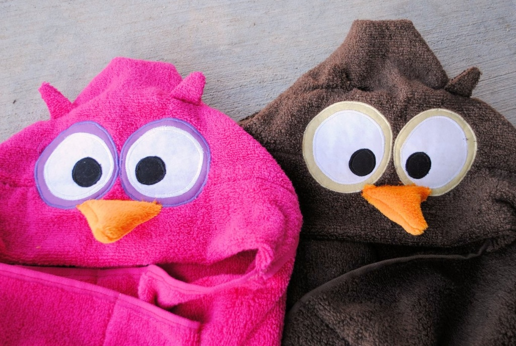 Owls Hooded Towels Tutorial