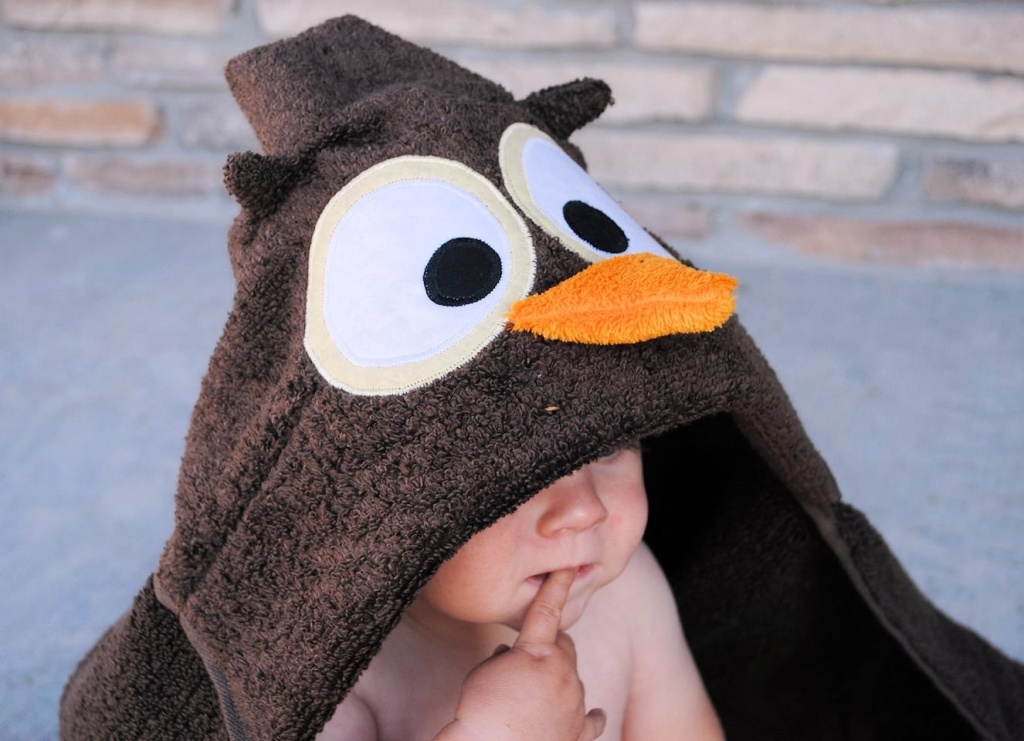 How to make an owl hooded towel (pattern)
