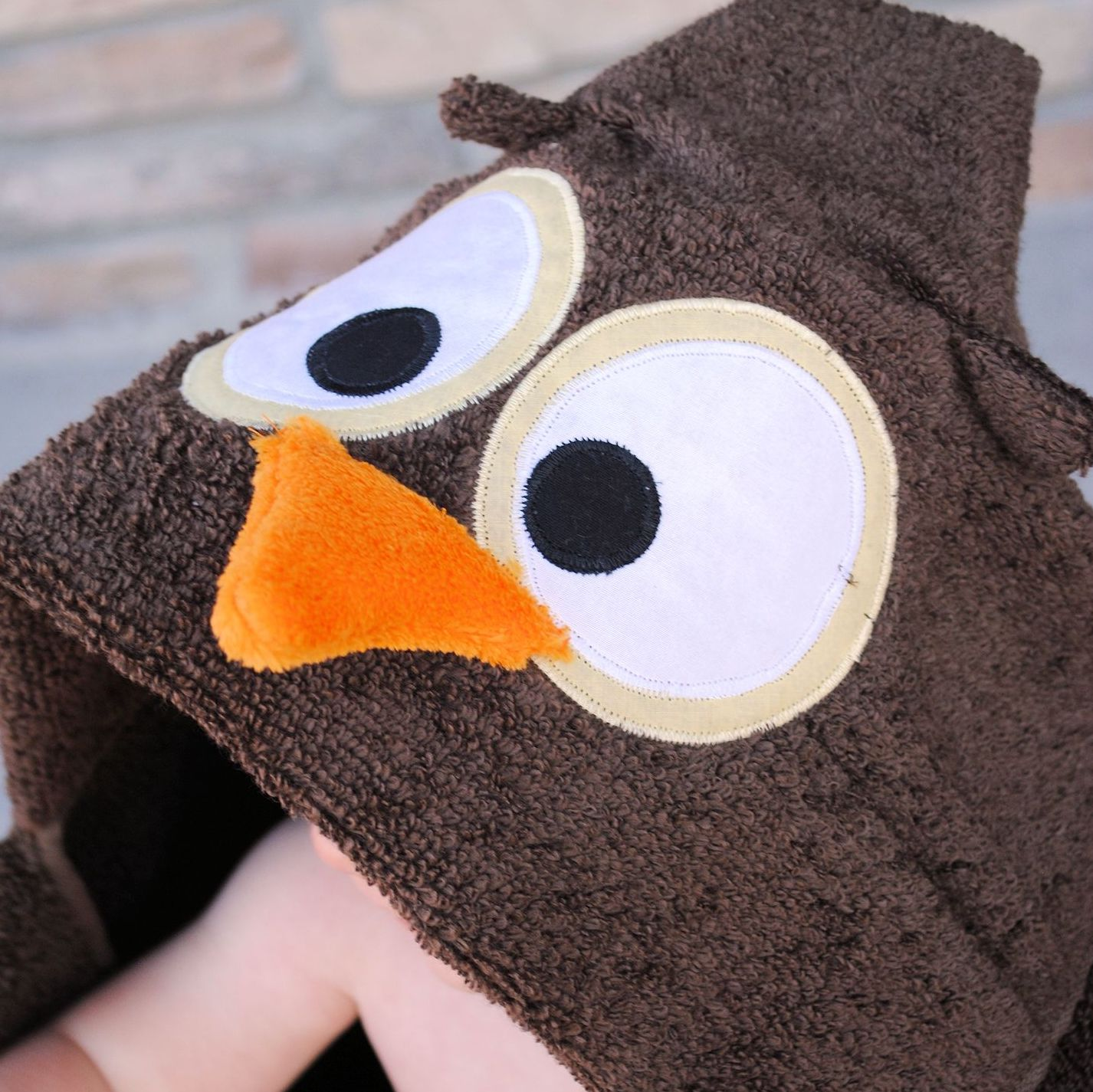 Owl Hooded Baby Towels