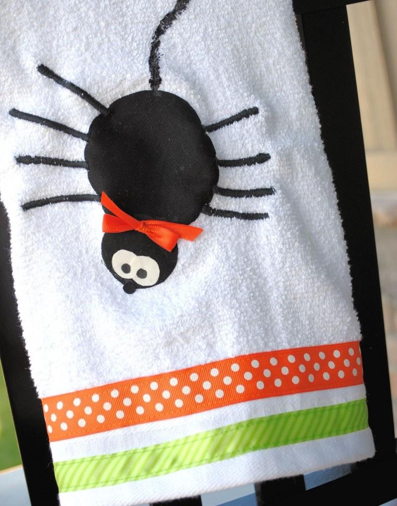 Halloween Spider Dish Towel