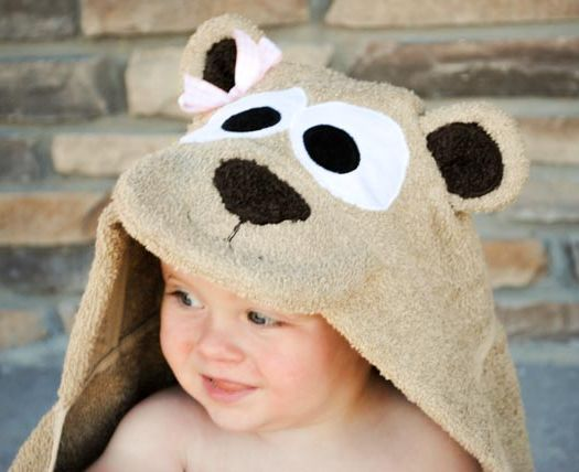 Teddy Bear Hooded Towel