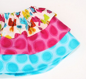 Quick and easy baby girl skirt pattern