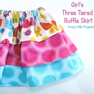 Three Layer Baby Girl Skirt