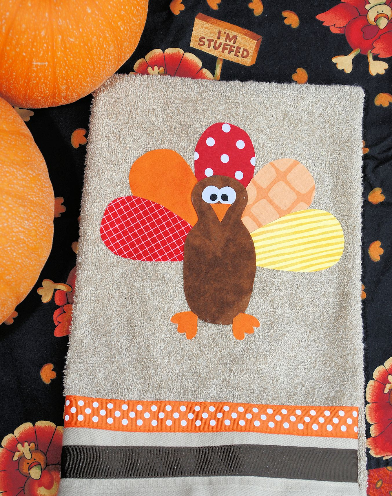 crazy little projects turkey thanksgiving hand towels