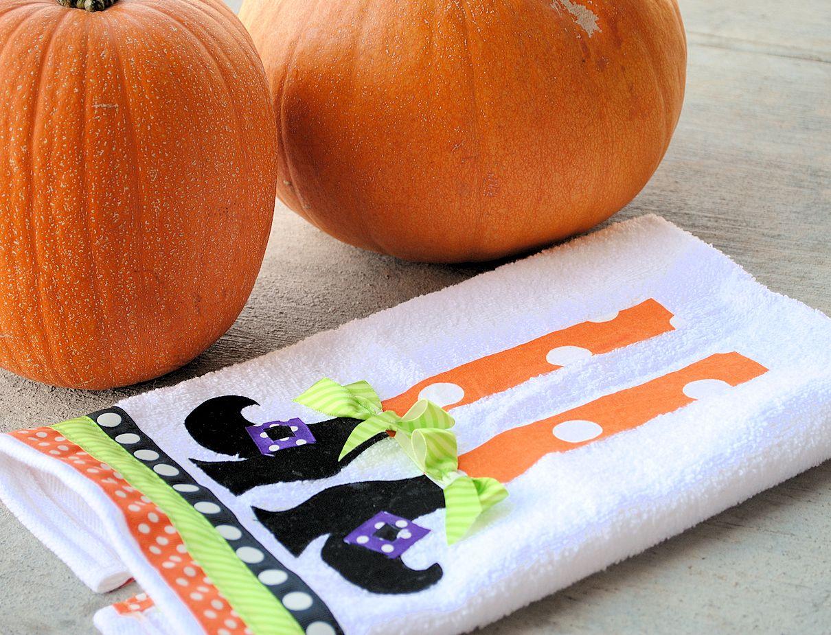 Kitchen Towel Craft Halloween Hand Towels