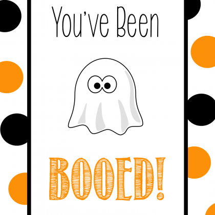 You've Been Booed Free Printable Tags