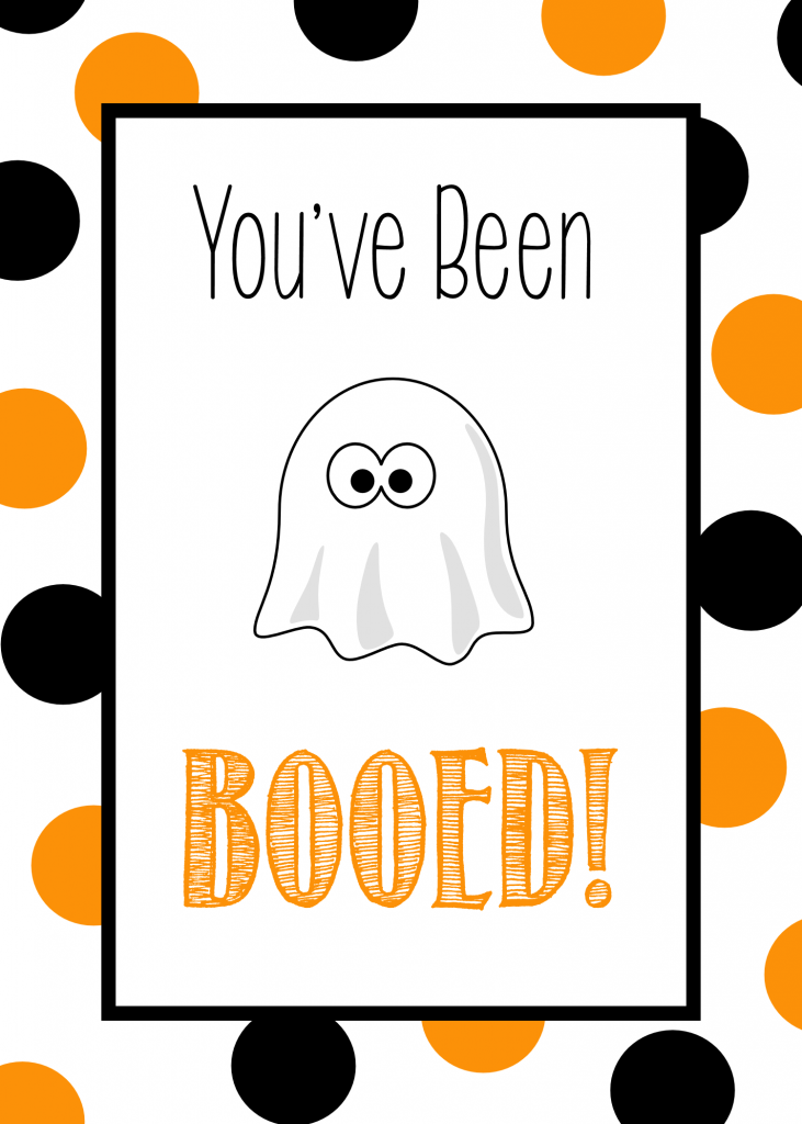 Free Printable You Ve Been Booed Tag Crazy Little Projects