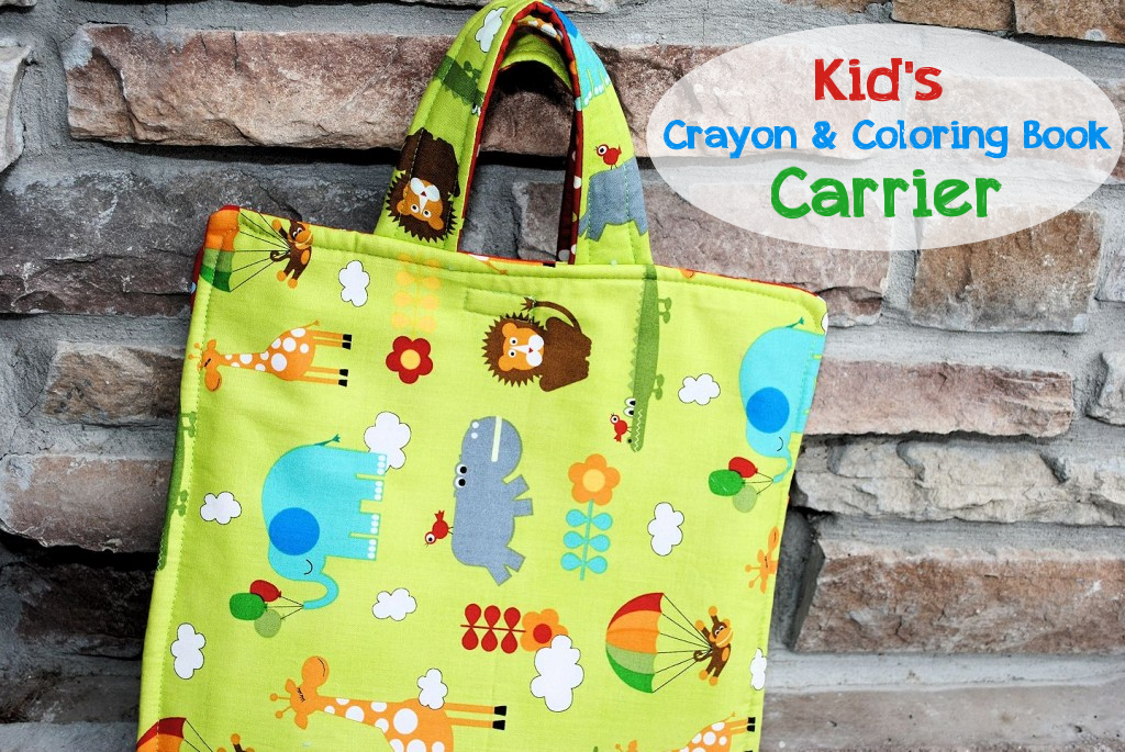 Kid's Crayon and Coloring Book Carrier by CrazyLittleProjects.com