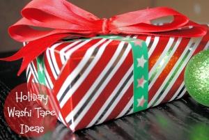 Christmas uses for washi tape