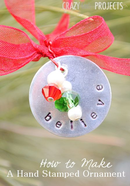 How to make a hand stamped Christmas Ornament