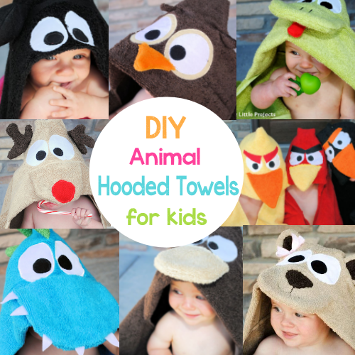 Animal Character Hooded Towel Tutorials