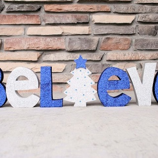 Believe-Painted Wooden Letters