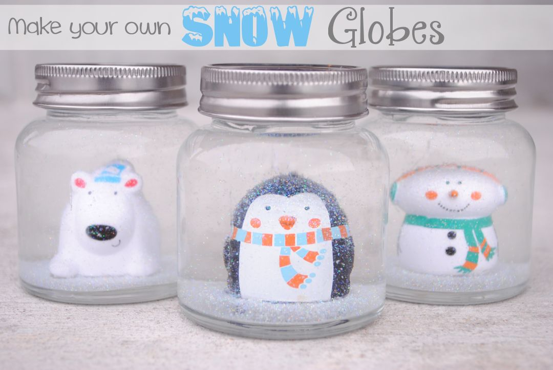 Diy snow globes for kids for Snow globe craft for kids