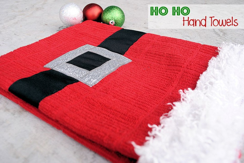 Santa Hand Towel Neighbor Gift Idea